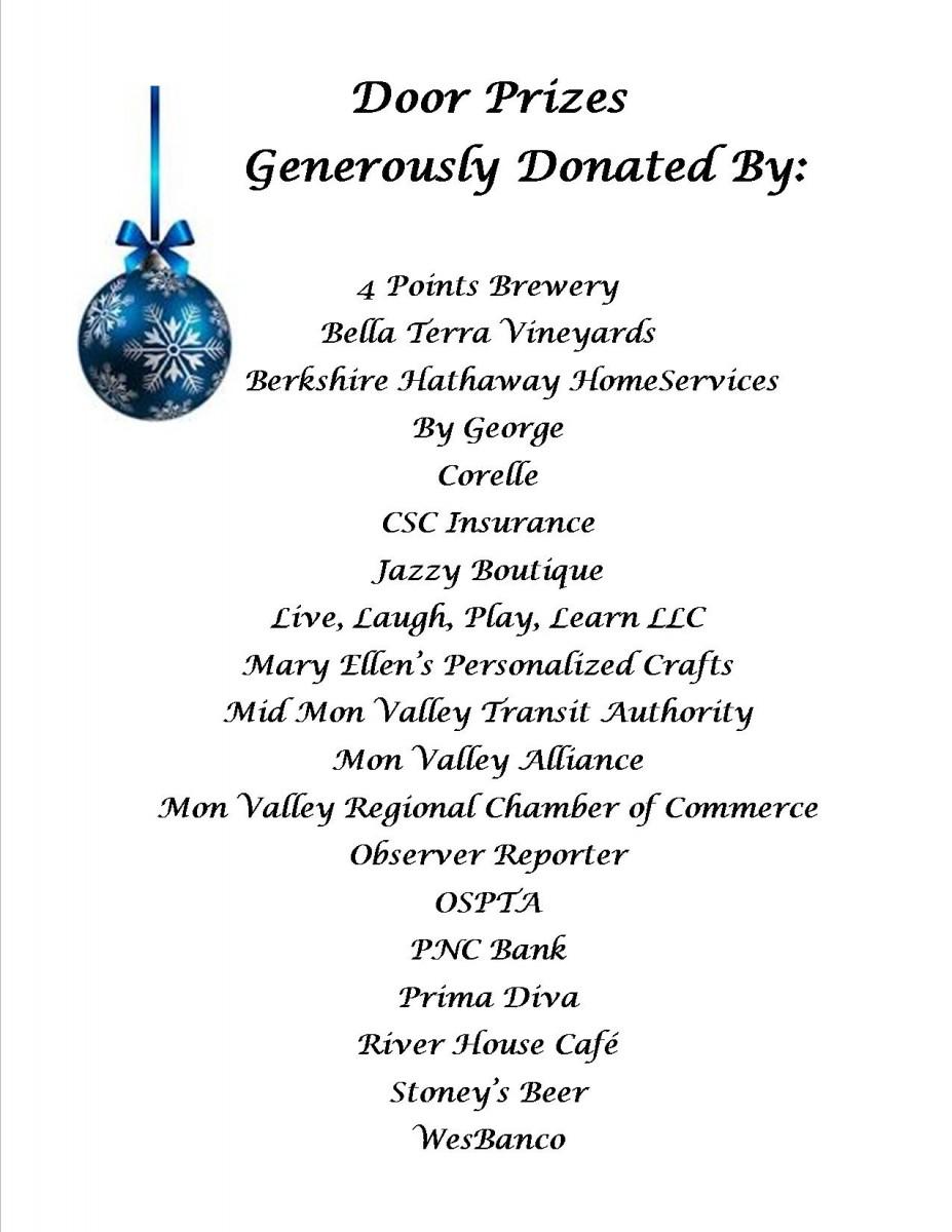 door prize donations
